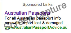 Dodgy passport information URL