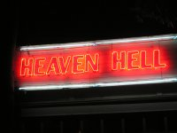 Heaven/Hell sign