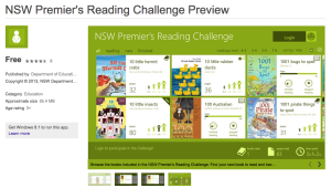 Premiers' Reading Challenge - Windows 8 required